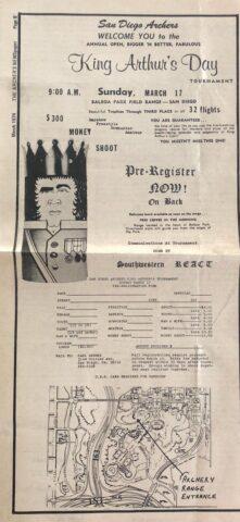 1974 King Arthur's Day Flyer, 1974